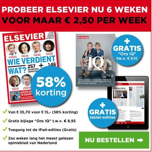 6x Elsevier voor €2,50