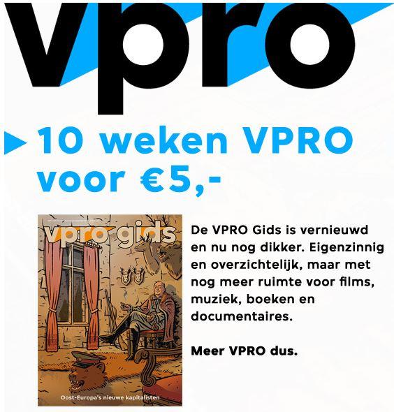 De VPRO gids 10 weken voor €5