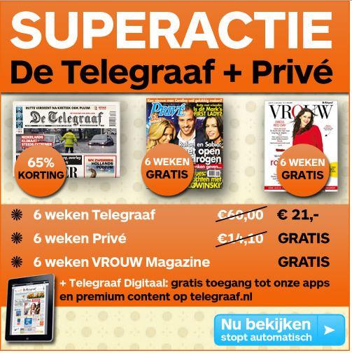65% korting op De Telegraaf, inclusief Privé